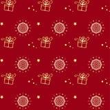 Картина снежинки вектора рождества безшовная Улучшите для печатать на ткани или заверните в бумагу Стоковое Изображение RF