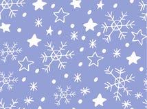 Картина снежинки простая безшовная иллюстрация вектора