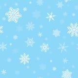 Картина снежинок безшовная Стоковые Фотографии RF