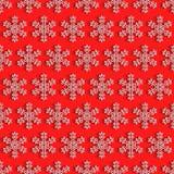 Картина снежинок зимнего отдыха красная безшовная, элемент дизайна модель-макета на Новый Год или рождество Стоковая Фотография RF
