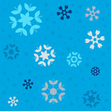 Картина снежинок зимы Стоковые Изображения