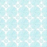 Картина снежинок орнаментальная безшовная Голубая текстура для украшений рождества Абстрактная бесконечная предпосылка вектор Стоковые Изображения