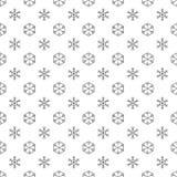 Картина снежинок черно-белая безшовная Стоковое Изображение RF