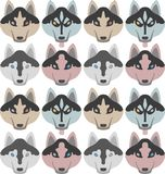 Картина собак с косточками и лапками Безшовное Haski, Лабрадор, чихуахуа, мопс, Далматин бесплатная иллюстрация