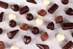 Картина собрания ассортимента фото конфет шоколада Стоковые Изображения