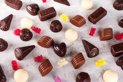 Картина собрания ассортимента фото конфет шоколада Стоковое Изображение RF