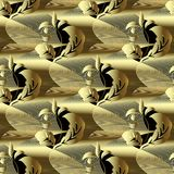 Картина современного вектора золота 3d барочного безшовная Абстрактное geometr бесплатная иллюстрация