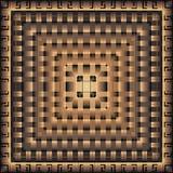 Картина современного геометрического греческого вектора 3d квадратная панель мандала Плитка Орнаментальная текстурированная абстр иллюстрация вектора