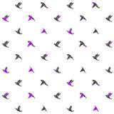 Картина современного дизайна с птицами origami вектор Стоковое Фото