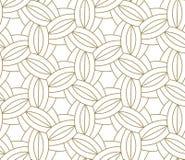 Картина современного простого геометрического вектора безшовная с линией текстурой золота на белой предпосылке Светлые абстрактны Иллюстрация вектора