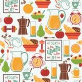 Картина современного плоского дизайна вектора безшовная античная чашка подряда кофе дела фасонировала машинку места пер свежего д бесплатная иллюстрация