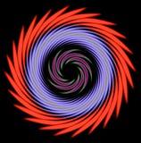 Картина спирали Mulricolored радиальная бесплатная иллюстрация
