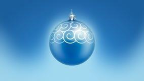 Картина спирали шарика с Рождеством Христовым рождественской елки иллюстрация вектора