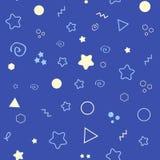 Картина спокойной ночи безшовная с звездами Предпосылка сладостных мечт также вектор иллюстрации притяжки corel Стоковое Фото