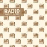 Картина старого радио безшовная Стоковые Фотографии RF