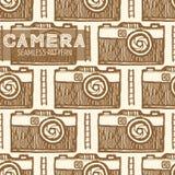Картина старой камеры фото безшовная Стоковые Изображения RF