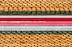 Картина старой крыши керамической плитки Стоковое фото RF