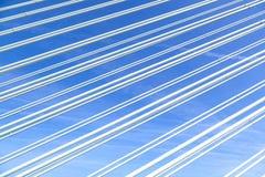 Картина стальных проводов современного моста Стоковые Изображения