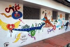 Картина стены на Керала стоковая фотография rf