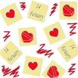 Картина стикеров с сердцами Стоковая Фотография RF
