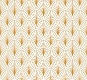 Картина стиля стиля Арт Деко вектора безшовная абстрактный орнамент предпосылки Стоковое Изображение RF