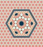 Картина стиля Ближний Востока шестиугольная на безшовной предпосылке иллюстрация штока
