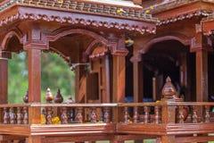 Картина стиля тайских домов старая _ Стоковая Фотография RF
