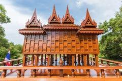 Картина стиля тайских домов старая _ Стоковые Фото