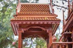 Картина стиля тайских домов старая _ Стоковое Изображение