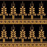 Картина стилизованной пшеницы безшовная Стоковое Изображение