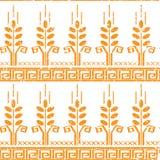Картина стилизованной пшеницы безшовная Стоковые Изображения