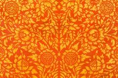 Картина стиля цветка традиционная тайская Стоковое Фото