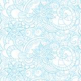 Картина стиля Doodle безшовная с флористическими элементами Стоковые Фотографии RF