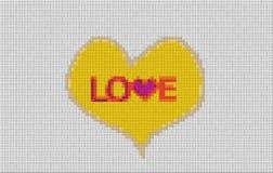 Картина стиля lego влюбленности Стоковое фото RF
