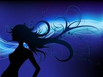 картина стрижки девушки предпосылки флористическая Стоковые Фотографии RF
