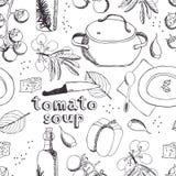 Картина супа томата иллюстрация штока