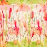 Картина счастливого и яркого лета флористическая безшовная при нарисованная рука Стоковое Фото