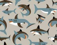 Картина с акулами Стоковая Фотография