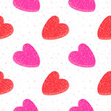 Картина сладостного вектора сердец студня безшовная Стоковое Изображение