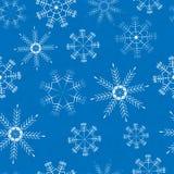Картина с белыми снежинками Стоковое Изображение RF