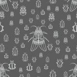 Картина с белыми черепашками Стоковая Фотография