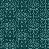 Картина с винтажным флористическим орнаментом Стоковое Изображение RF