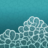 Картина с волнами, дизайн абстрактного вектора голубая темы волны Стоковые Фото