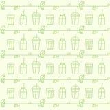 Картина с вытрезвителем питья плодоовощ Smoothie с листьями Стоковая Фотография