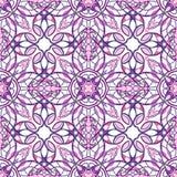 Картина с декоративными симметричными восточными орнаментами Стоковое Изображение
