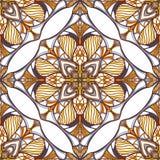 Картина с декоративными симметричными восточными орнаментами Стоковое Фото