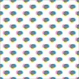 Картина с деформированными серыми dotscolors Стоковые Фото
