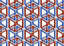 Картина сделанная из вздорно соединенных воодушевленных кубов - Стоковое Изображение RF