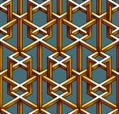 Картина сделанная из вздорно соединенных кубов провода Стоковые Фото