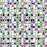 Картина сделанная красочных сделанных по образцу кругов Стоковое фото RF